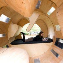 Причудливый деревянный дом