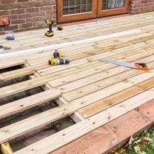 Терраса на земле – подложка для деревянной террасы